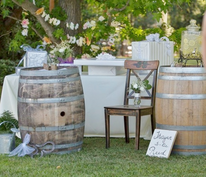 Wine Barrels wedding rentals by Brave Horse Winery