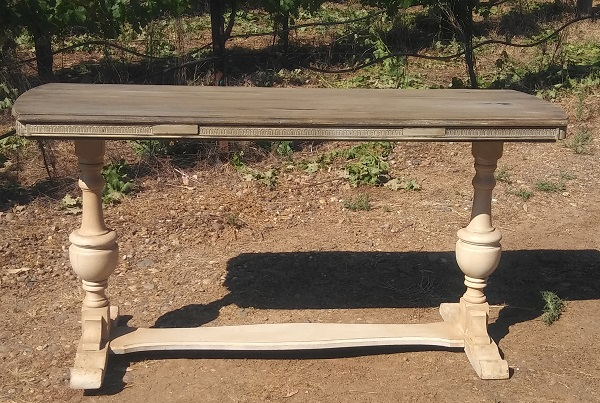Rectangular Vintage Table Wedding Rentals from Brave Horse Winery